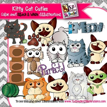 Kitty Cat Cuties Clip art