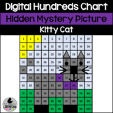 Kitty Cat Hundreds Chart Hidden Picture Activity for Math