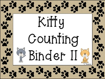 Interactive Kitty Counting NotebookBinder II