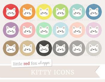 Kitty Icon Clipart; Cat, Animal, Pet