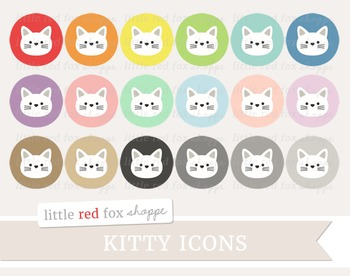 Kitty Icon Clipart; Cat, Animal, Pet