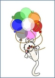 FREE CLIP ART SAMPLE Kitty and Balloons