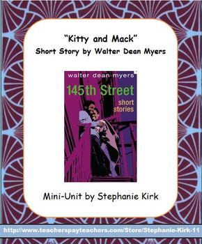 """""""Kitty and Mack"""" by W. D. Myers Lesson Plan Bundle (plans, handouts, key, PPTs)"""