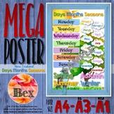 Kiwi Days, Months, Seasons Mega Poster