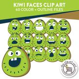 Kiwi Faces Clip Art