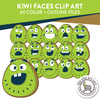 Kiwi Faces Clip Art