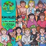 Kiwi Kids Clip Art {New Zealand Children with a Kiwiana flavour!}