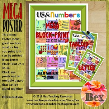USA Numbers Mega Poster