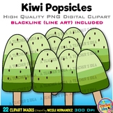 Kiwi Popsicles Clipart | Summer Clip Art for Personal and