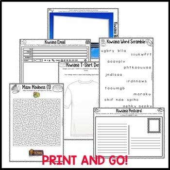 Kiwiana Print and Go Activity Pack