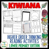 Kiwiana Reading Comprehension Activities Year 3 and 4 NZ
