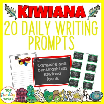 Kiwiana Writing Prompts PowerPoint Journal and Worksheet