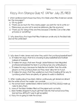 Kizzy Ann Stamps by Jeri Watts:  10 Quizzes