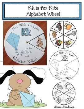 Kk Is For Kite Alphabet Wheel