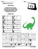 Kk page of poetry notebook
