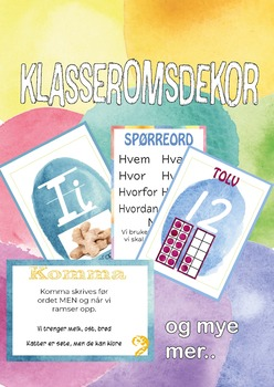 Klasseromsdekor VANNFARGE (Growing bundle)