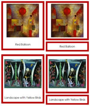 Klee (Paul) 3-Part Art Cards - Color Borders
