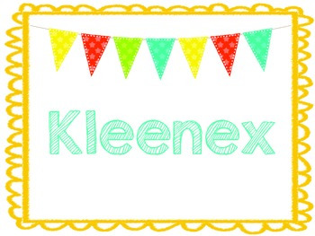 Kleenex/Tissue label Freebie!