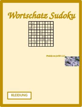 Kleidung (Clothing in German) Sudoku