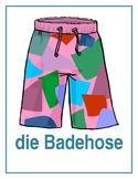 Kleidung (Clothing in German) Posters