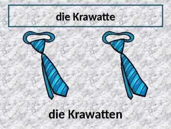 Kleidung (Clothing in German) power point