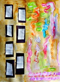 """Gustav Klimt Art Lesson """"Design for the Stocletfries"""" Grades K-6 History ELA"""