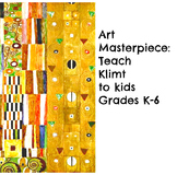 "Gustav Klimt Art Lesson ""Design for the Stocletfries"" Grades 2-6 History ELA"