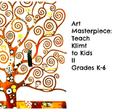 "Gustav Klimt Art Lesson ""Tree of Life"" Grades 2-6 History Biography Common Core"