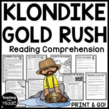Klondike Gold Rush Informational Text Worksheet, DBQ, Call of the Wild