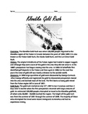 Klondike Gold Rush - Review Article Lesson Facts Info Questions Vocabulary