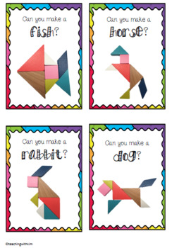 Tangram Task Cards - Animals and Objects!