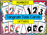 Tangram Task Cards - Numbers and Letters!