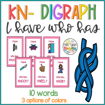 Kn- Digraphs I have Who has Phonics Game