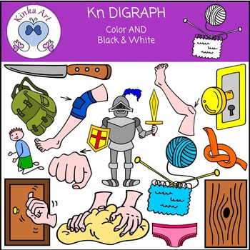 Kn Sounds (Digraph): Beginning Sounds Clip Art