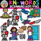 Kn- Words Beginning Digraphs Clipart {Digraphs Clipart}