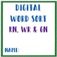 Digital Word Sort for Kn, Wr, and Gn