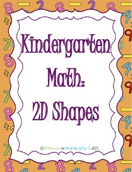 Kndergarten 2D Shapes Resource Unit