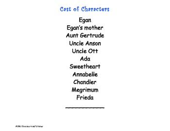 Kneeknock Rise Cast of Characters