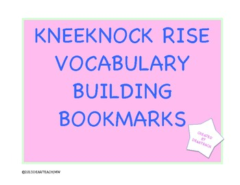 Kneeknock Rise Vocabulary Bookmarks