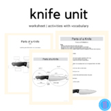 Knife Labeling Worksheet