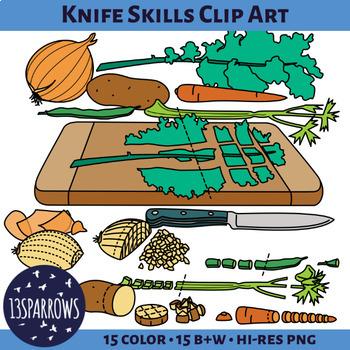 Knife Skills Clip Art