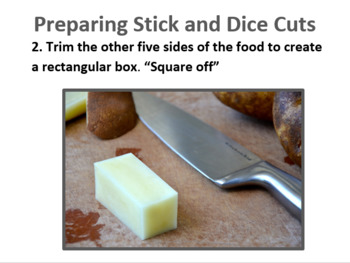 Knife Skills PowerPoint with Guided Note Sheet