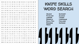 Knife Skills Word Search; FACS, Culinary Arts, Bellringer, Worksheet