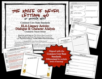 Knife of Never Letting Go Common Core Dialogue Character Analysis