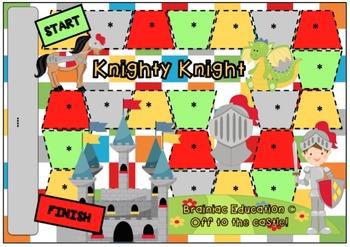 Knight Blank Board Game (EDITABLE)