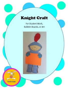 Knight Craft -Decorative  Holder Craft for Bulletin Boards, Student Work