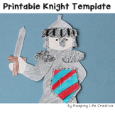 Knight Craftivity Template