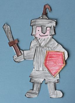 Knight Craftivity Template