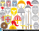 Knight Props mask Digital Clip Art Personal and Commercial
