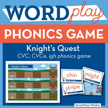 Knight's Quest short i, long vowel CVCe, igh Phonics Game - Words Their Way Game